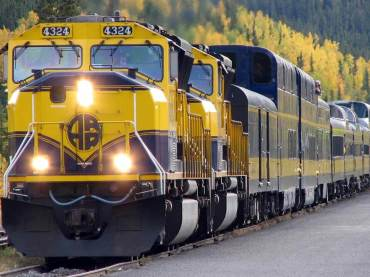 The Alaska Railroad in Denali