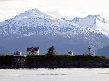 Alaska Lighthouse and Mountain Views