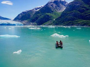 Small Boat Excursion Near Icebergs