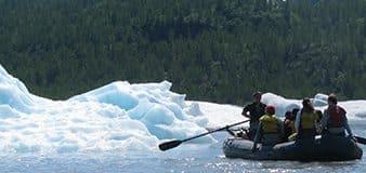 Spencer Glacier iceberg float