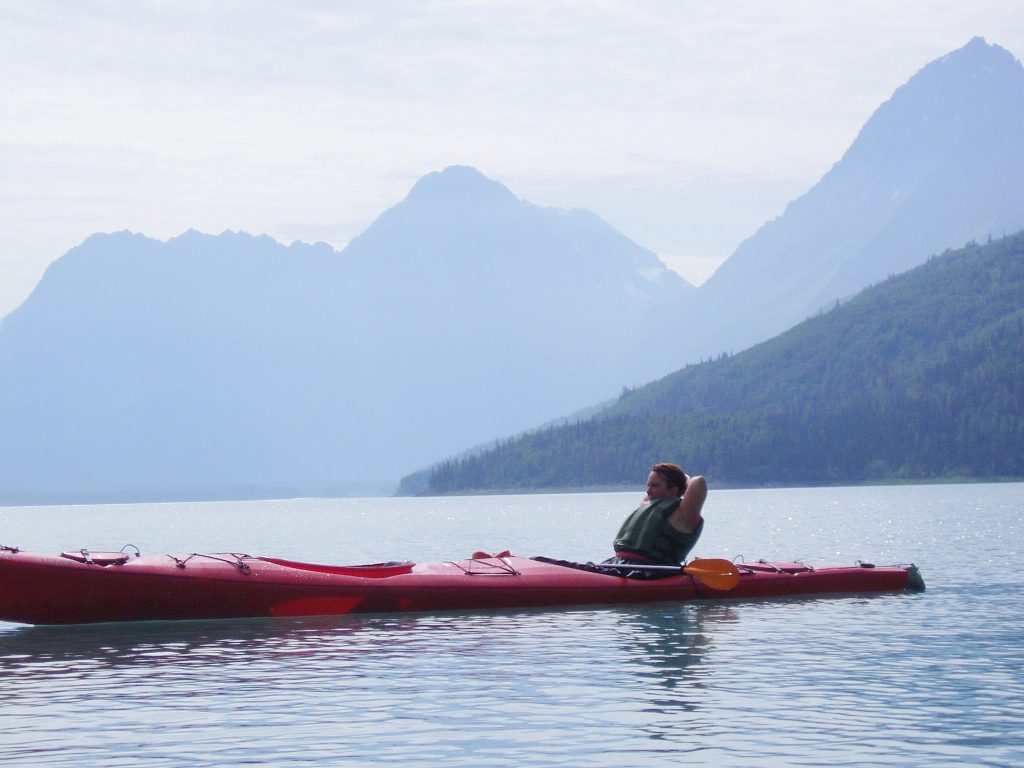 Lake kayaking in Alaska