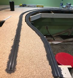 tom begins painting track and cork using a 50 50 mix of water and camouflage colored paint eventually ballast will be laid and if coverage is not perfect  [ 900 x 1200 Pixel ]