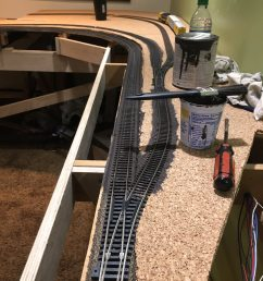 lj spent most of the evening shortening and or tying up all the wires under the layout this will prevent wires being pulled out as storage boxes are pulled  [ 900 x 1200 Pixel ]