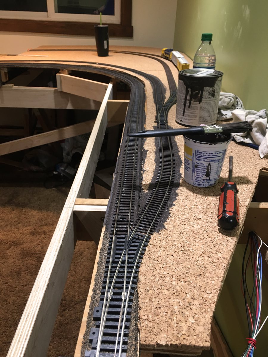 hight resolution of lj spent most of the evening shortening and or tying up all the wires under the layout this will prevent wires being pulled out as storage boxes are pulled