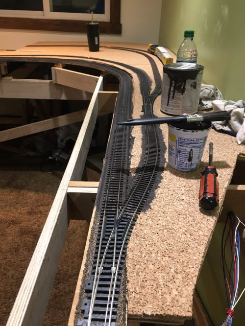 small resolution of lj spent most of the evening shortening and or tying up all the wires under the layout this will prevent wires being pulled out as storage boxes are pulled