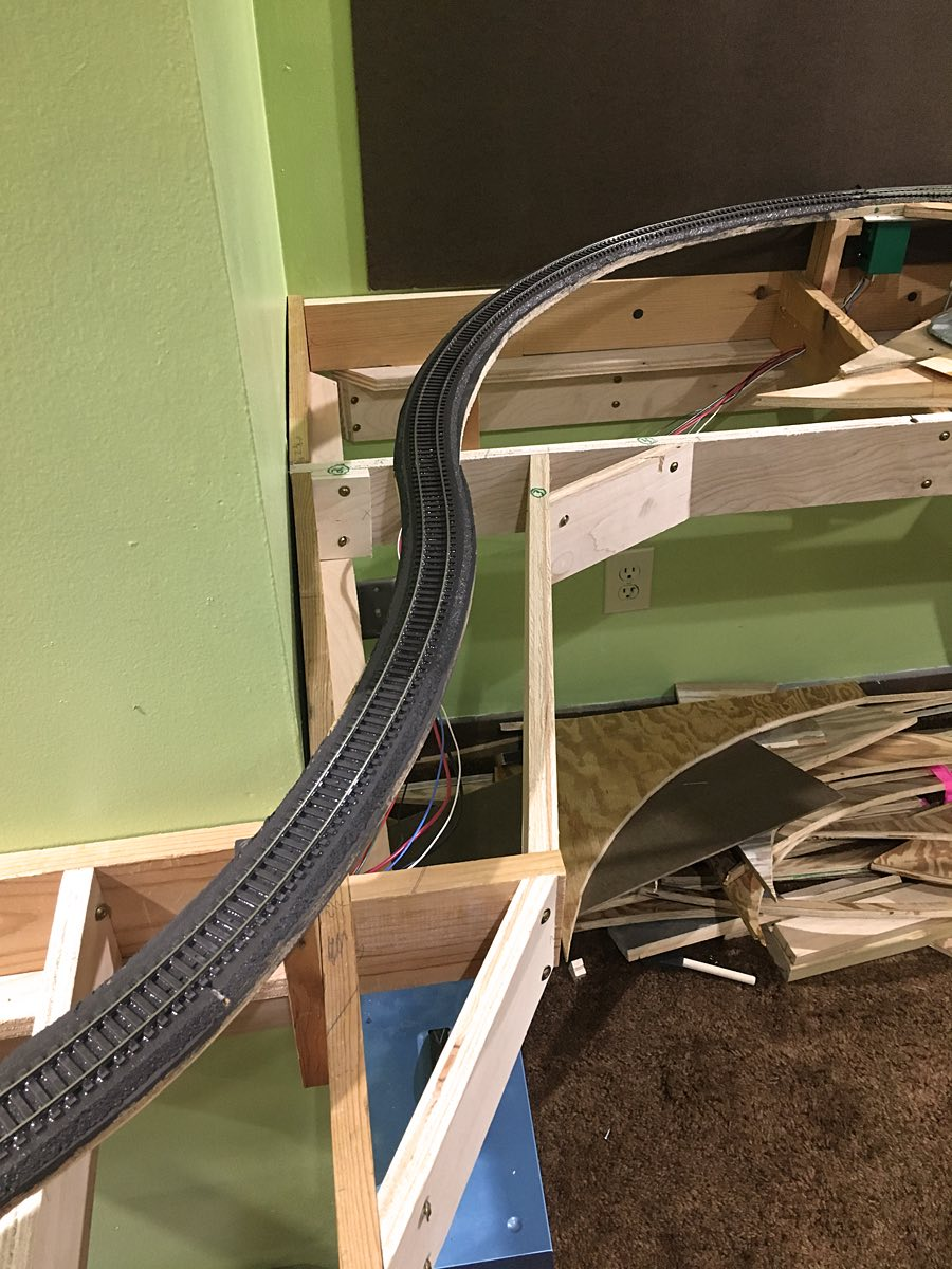 medium resolution of lj spent most of the evening shortening and or tying up all the wires under the layout this will prevent wires being pulled out as storage boxes are pulled