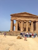 At the Valley of the Temples in Agrigento.
