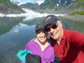 Sarah and I in front of the glacier