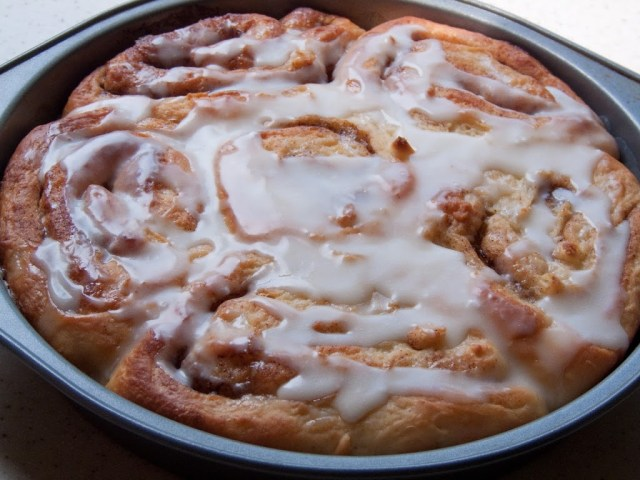 These classic cinnamon rolls are worth all the sticky fingers! Rich and gooey, these homemade cinnamon rolls are drizzled with a sweet maple glaze!