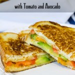 Grilled Vermont Cheddar Cheese with Tomato and Avocado