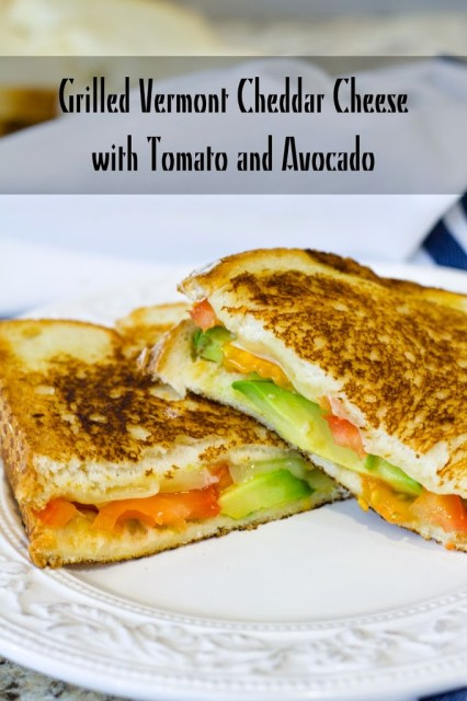 Grilled Vermont Cheddar Cheese with Tomato and Avocado: Comfort food to the max. Rich and cheesy and perfect.