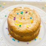 Cake Batter Blondies | A Latte Food