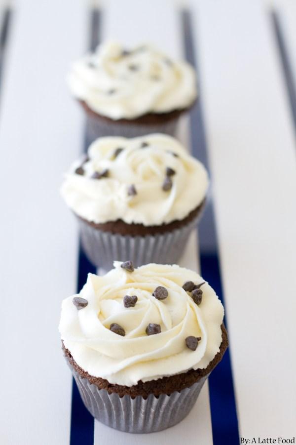 Oreo Truffle Stuffed Chocolate Cupcakes | A Latte Food