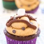Chocolate Fluffernutter Cupcakes