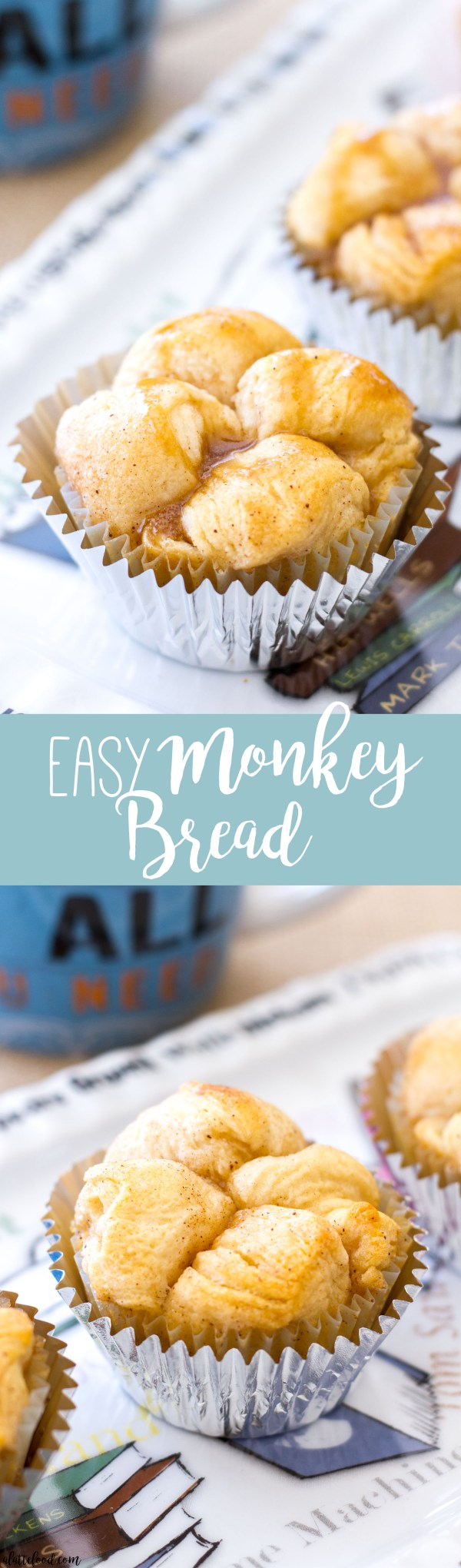 This easy homemade monkey bread is practically irresistible! Made with refrigerator biscuit dough, this easy monkey bread is rolled in cinnamon sugar and drenched in a gooey, homemade caramel sauce!