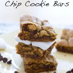 S'more Chocolate Chip Cookie Bars are everything summer in one delicious dessert! www.alattefood.com/