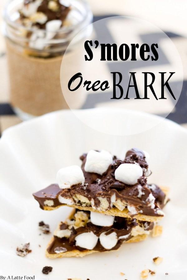 S'mores Oreo Bark | A Latte Food