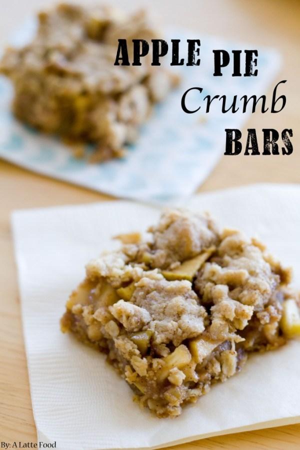 Apple Pie Crumb Bars   A Latte Food