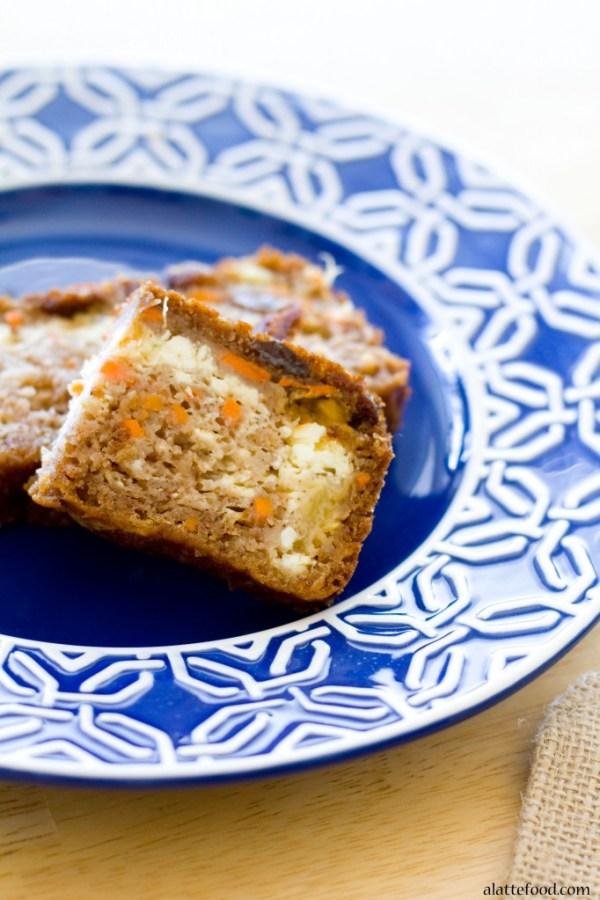 Cheesecake Stuffed Carrot Cake Bread | A Latte Food