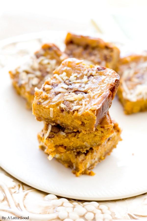 Pumpkin Pie Dream Bars | A Latte Food