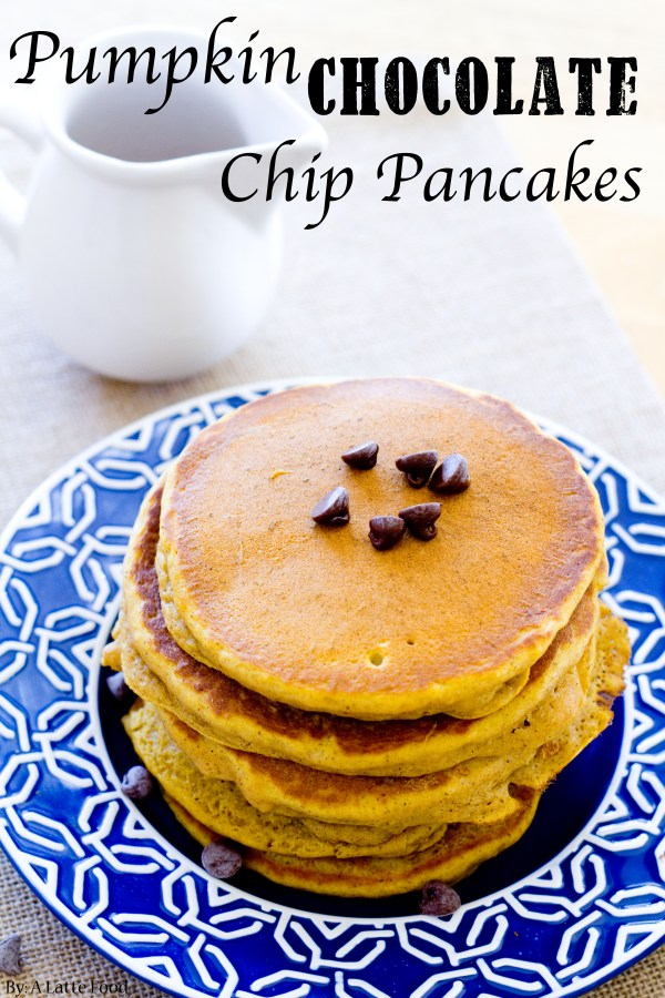 Pumpkin Chocolate Chip Pancakes | A Latte Food