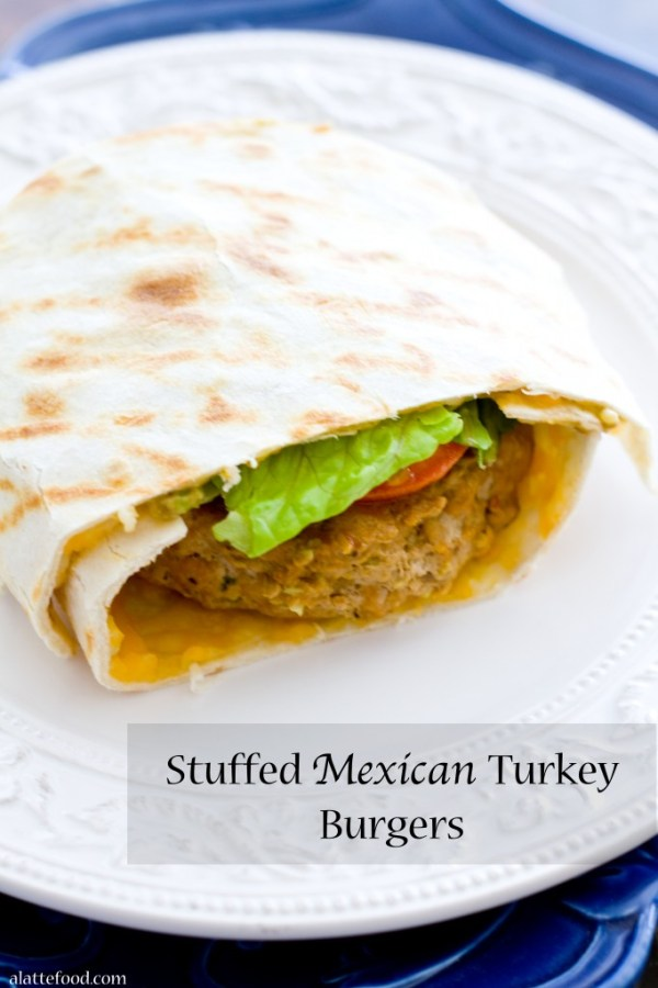 Stuffed Mexican Turkey Burgers | A Latte Food