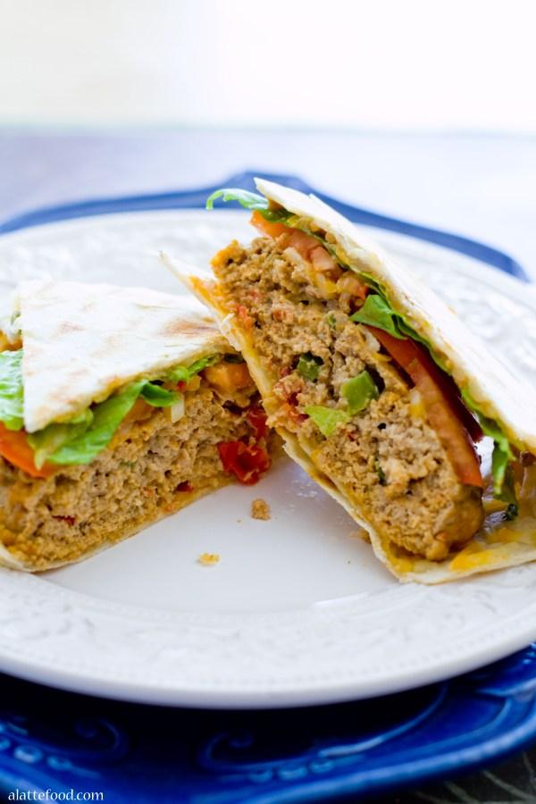 Stuffed Mexican Turkey Burgers | A Latte Food