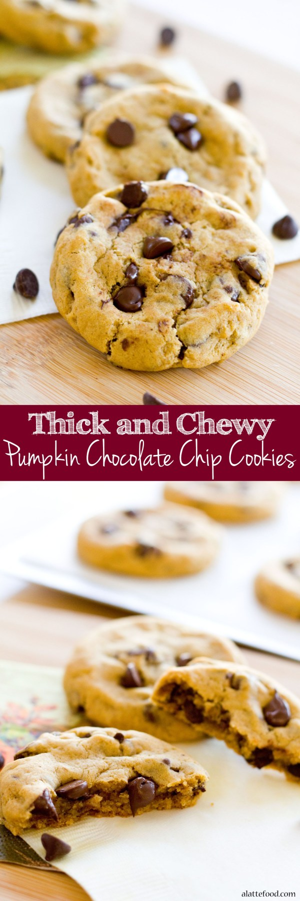 This pumpkin dessert recipe transforms the classic chocolate chip cookie into the perfect fall dessert!