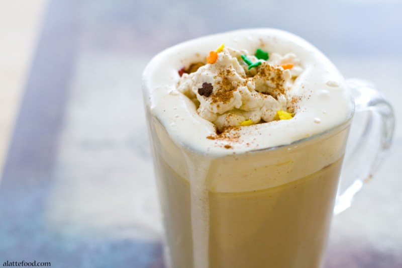 Pumpkin Spice Lattes with Pumpkin Whipped Cream | A Latte Food