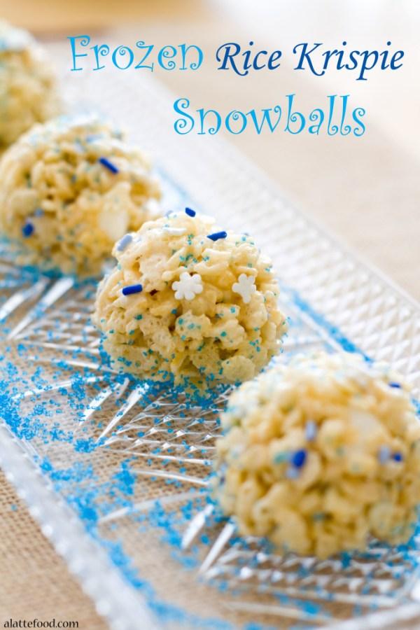 Frozen Rice Krispie Snowballs | A Latte Food