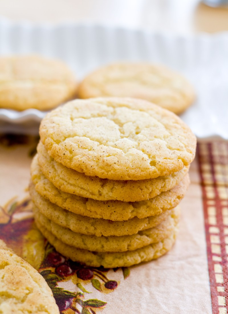 A stack of chewy classic snickerdoodles.