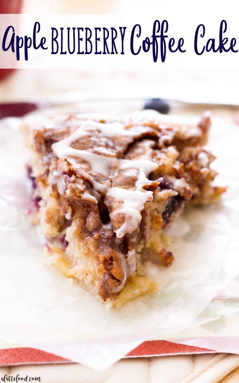 Best homemade apple blueberry coffee cake recipe!