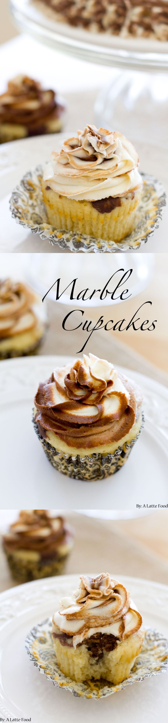 Marble Cupcakes | A Latte Food