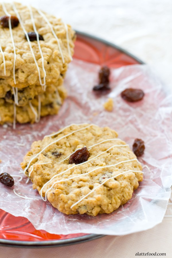 Oatmeal Raisin Cookies | A Latte Food