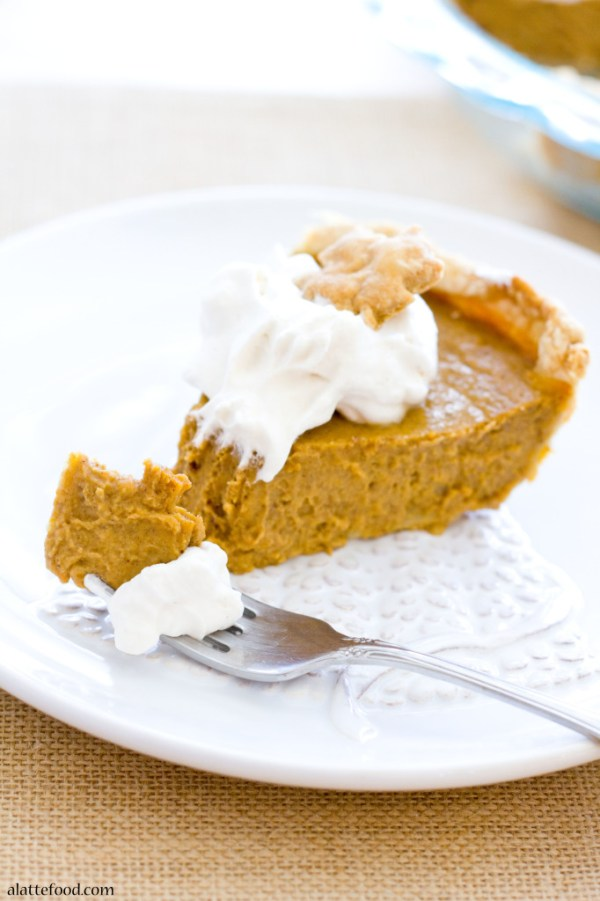 With its smooth texture, perfectly spiced pumpkin filling, and easy (as pie!) homemade crust, you just might want this all. year. long.