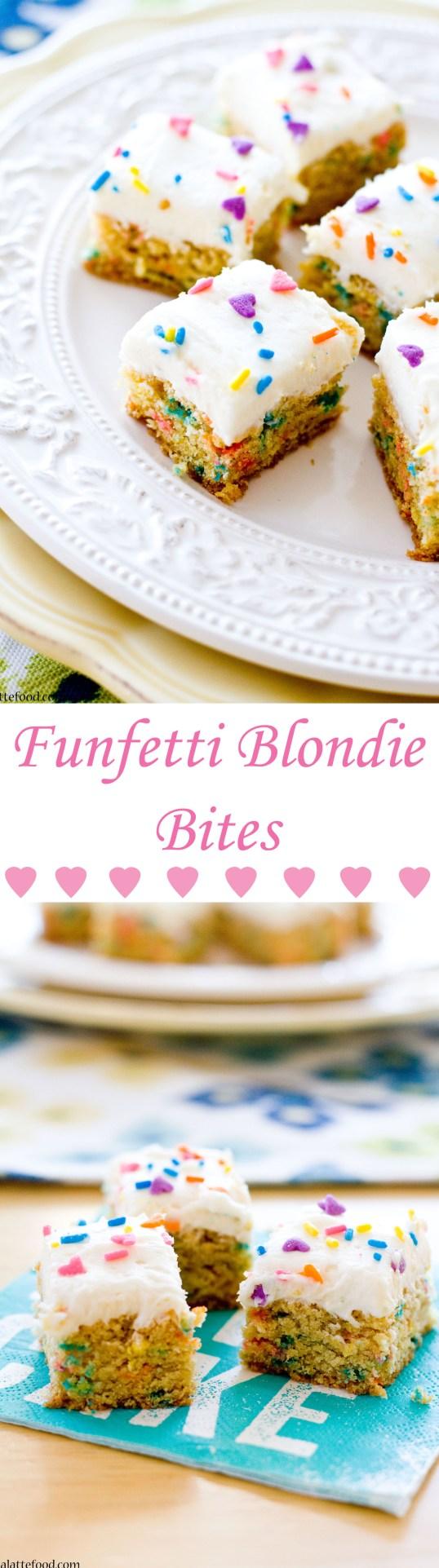 Funfetti Blondie Bites   A Latte Food