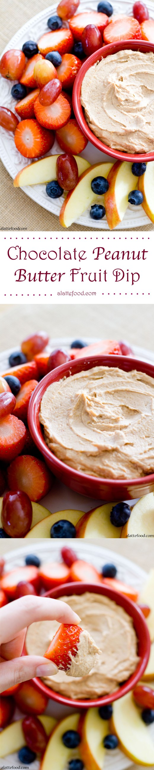 {Healthy and Gluten-Free} Chocolate Peanut Butter Fruit Dip   A Latte Food