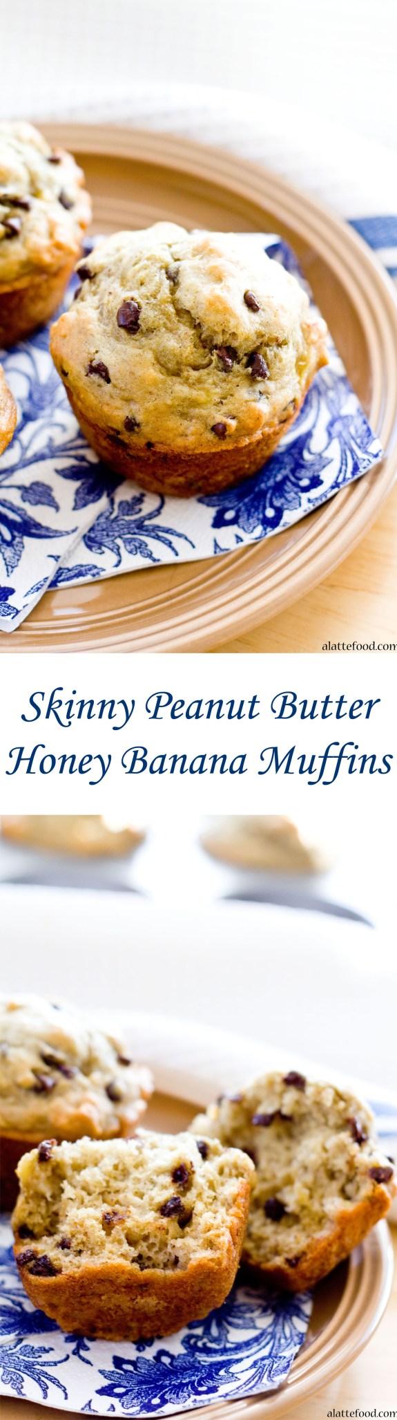 Skinny Peanut Butter Honey Banana Muffins   A Latte Food