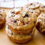 {Skinny} Strawberry Banana Chocolate Chip Muffins
