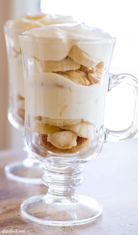 Up close banana pudding recipe photo
