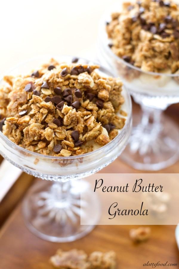 {Easy} Crunchy Peanut Butter Granola | A Latte Food