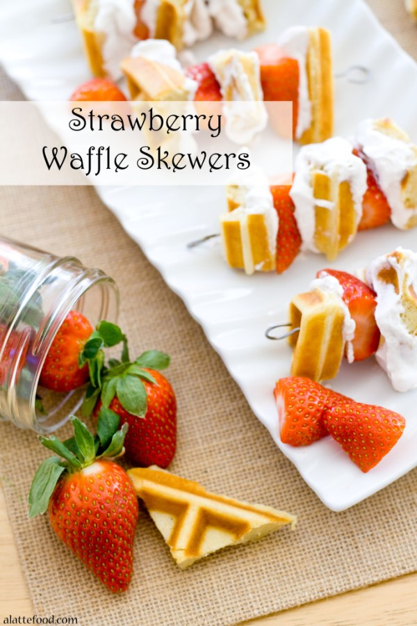 Strawberry Waffle Skewers | A Latte Food