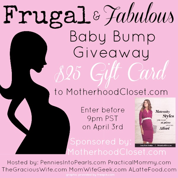 Frugal Fabulous Baby Bump Giveaway Image