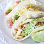 {Crockpot} Salsa Verde Honey Lime Chicken Tacos