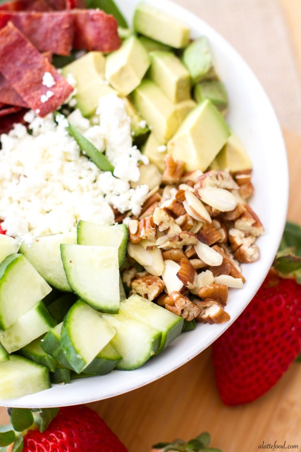 Strawberry, Avocado, & Bacon Spinach Salad   A Latte Food