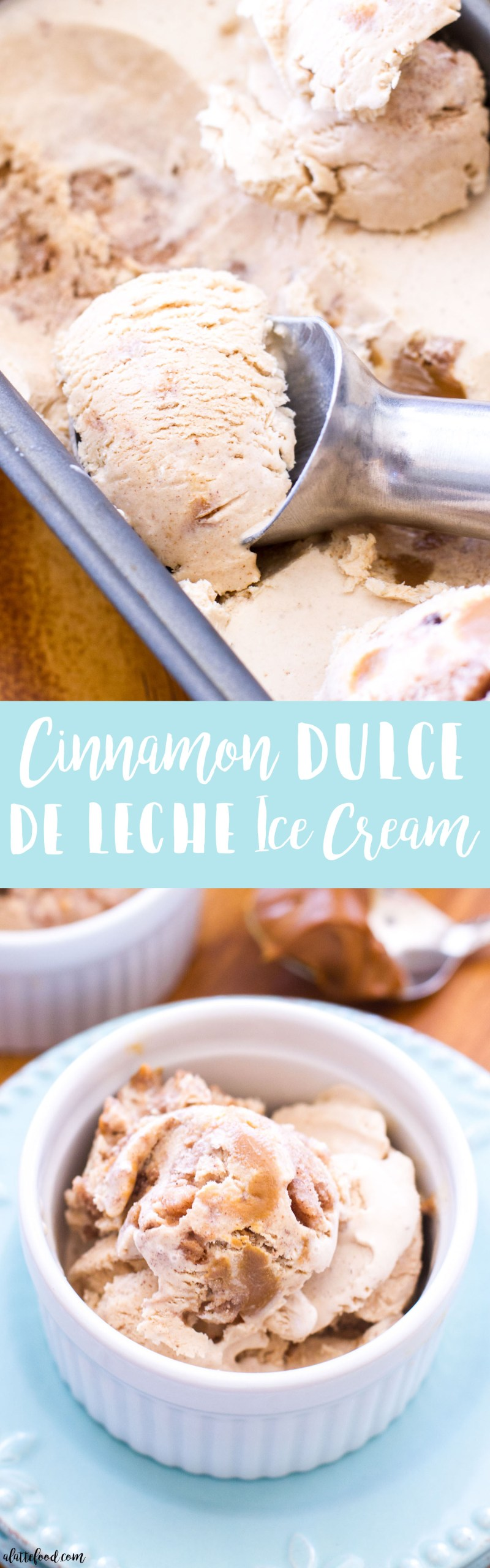 This homemade Cinnamon Dulce de Leche Ice Cream is filled with homemade cinnamon crunch bits and swirled with dulce de leche! It's like eating a churro in ice cream form. Cinco de Mayo dessert has never tasted this good. High-fives all around! ice cream, churro, cinnamon