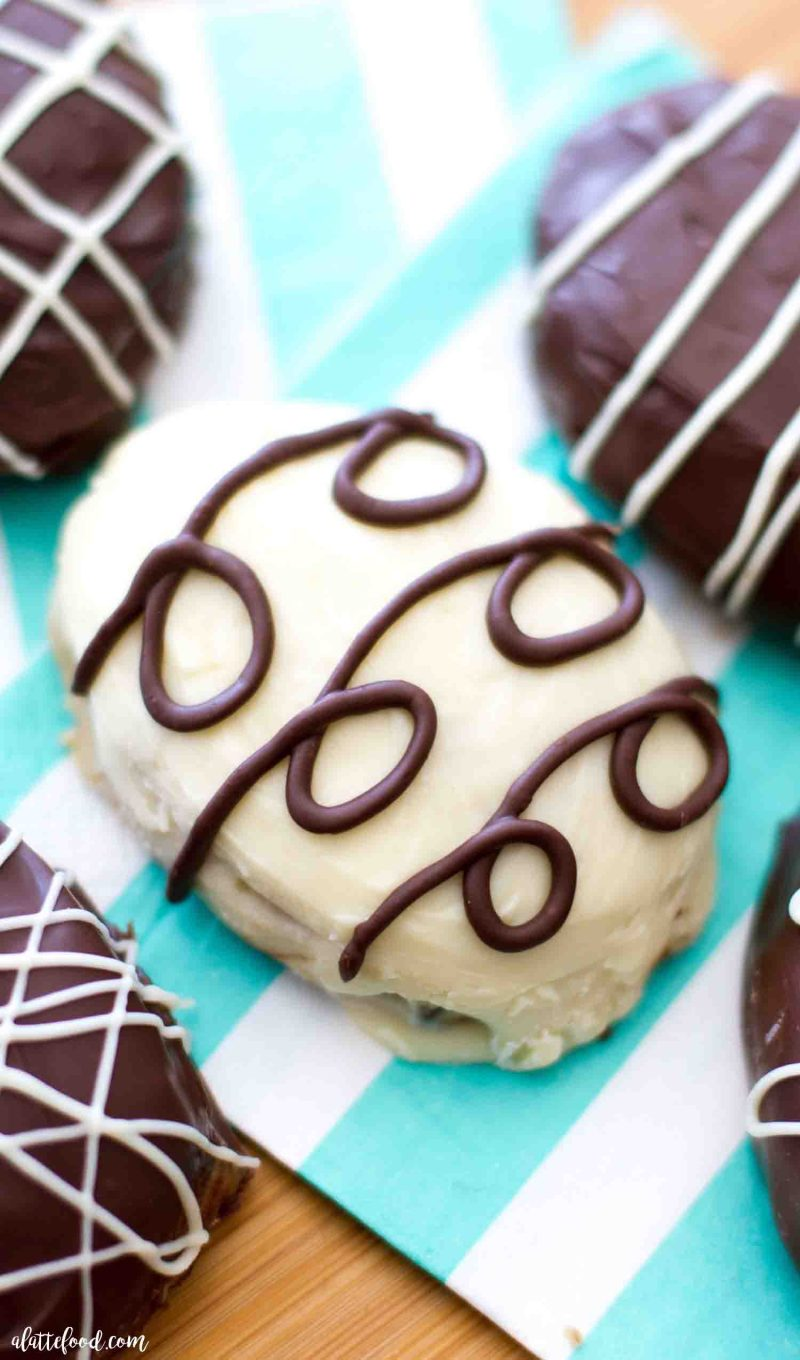 These easy eggless cookie dough truffles make the cutest Easter egg truffles.