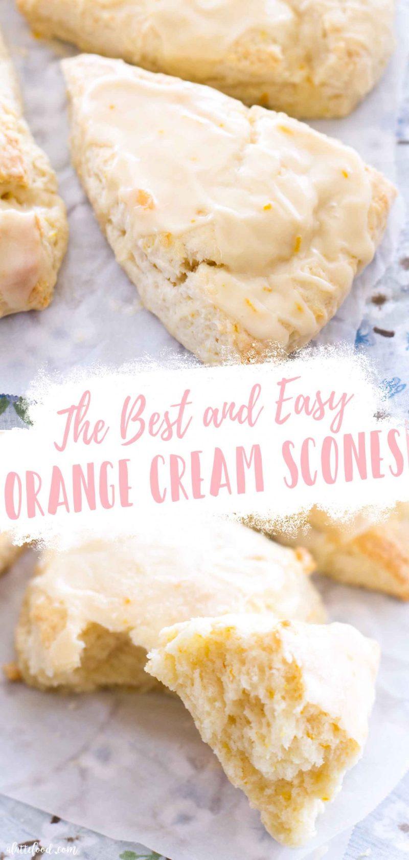 orange cream scones collage with text