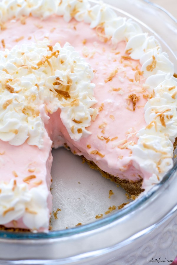 {No-Bake} Tropical Cream Pie | A Latte Food