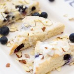 {Mini} Almond Blueberry Scones